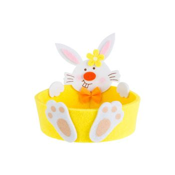 Cosy @ Home Easter Basket Rabbit Yellow D13xh12,5cm