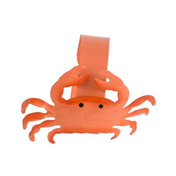 Cosy @ Home Napkin Ring Crab Orange D4cm Metal