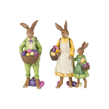 Cosy @ Home Easter Hare Green With Child 2 Types Yellow
