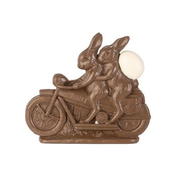 Cosy @ Home Easter Hare On Bike Chocolate 21,5x4,5xh