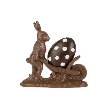 Cosy @ Home Easter Hare Cart Chocolate 18,8x5,3xh18,