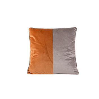 Cosy @ Home Cushion Velvet Greige Rust 45x45xh10cm P