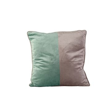 Cosy @ Home Cushion Velvet Greige Green 45x45xh10cm