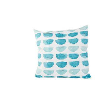 Cosy @ Home Cushion Blue Print  White 45x45xh10cm Po