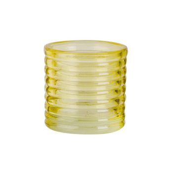 Cosy @ Home Tealight Holder Fluo Yellow D6xh6cm Glas