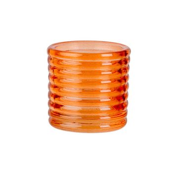 Cosy @ Home Tealight Holder Fluo Orange D6xh6cm Glas