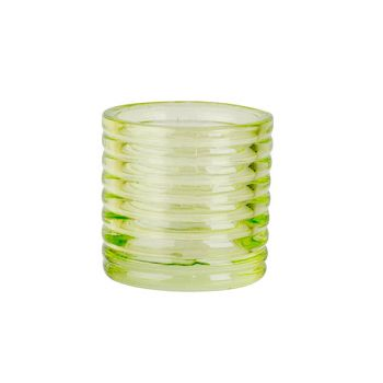 Cosy @ Home Tealight Holder Fluo Green D6xh6cm Glass