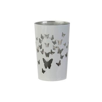Cosy @ Home Tealight Holder Butterflies White D7xh11
