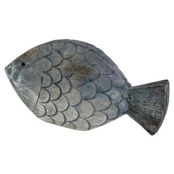 Cosy @ Home Fish Fish Skin Blue 13,5x2,5xh7cm