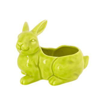Cosy @ Home Rabbit Pot Pastel Green 14,1x10,2xh11cm