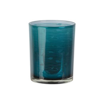 Cosy @ Home Tealight Holder Fish Blue D10xh12cm Glas