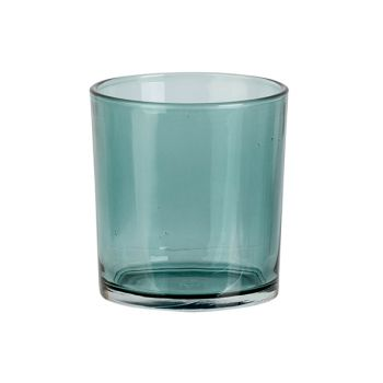 Cosy @ Home Tealight Holder Spring Blue D7xh8cm Glas