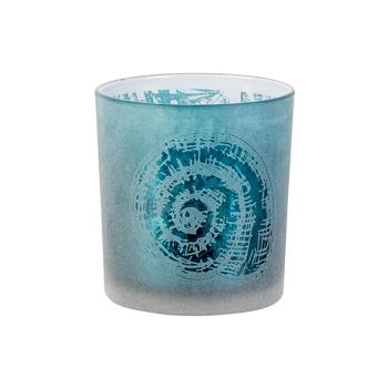 Cosy @ Home Tealight Holder Shell Blue D7xh8cm Glass