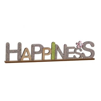 Cosy @ Home Happiness Nature 50x3xh10cm Wood