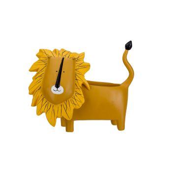 Cosy @ Home Lion Pot Yellow 21,4x10,3xh18cm Polyresi