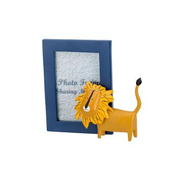 Cosy @ Home Photoframe Lion Blue Yellow 20,1x11,5