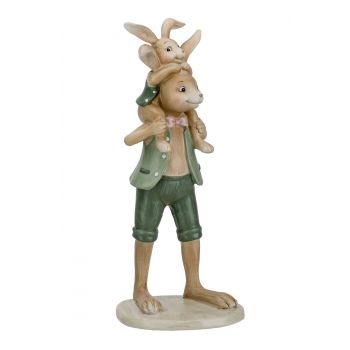Cosy @ Home Rabbit Father And Son Mint 10,1x9,6xh25,