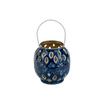 Cosy @ Home Lantern Email Blue 11x11xh11cm Metal
