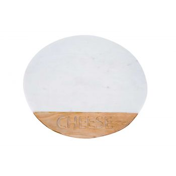 Cosy & Trendy Serving Plate Cheese White Marble Acacia