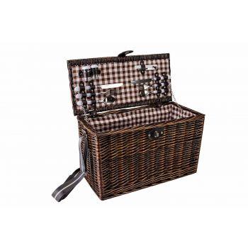 Cosy & Trendy Picnic Basket 4p Brown 49x23xh29cm Recta