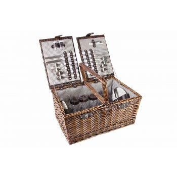Cosy & Trendy Picnic Basket 4p Cutlery-plates-glasses-
