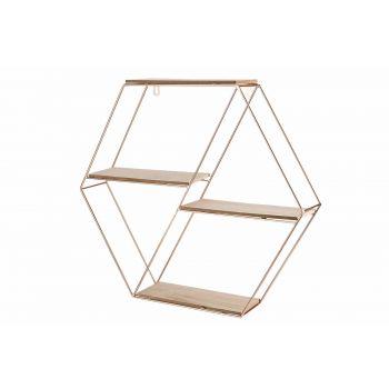 Cosy @ Home Copper Deco Rack Copper 49,5x8,5xh44cm M