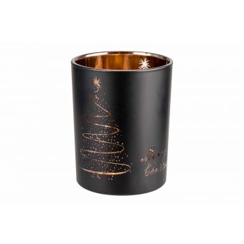 Cosy @ Home Copper Tealight Holder Merry Christmas B