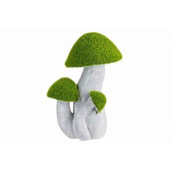 Cosy @ Home Mushrooms Flocked Green Grey 17,5x12,5xh