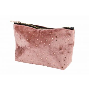 Cosy @ Home Toilet Bag Strass Old Pink 19x5xh13cm Po
