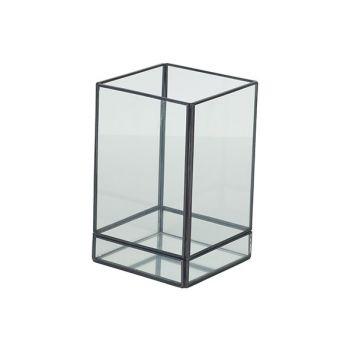 Cosy @ Home Lantern Mirror Grey 10x10xh16cm Metal-gl