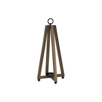 Cosy @ Home Lantern Rustic Nature 17x17xh47cm Wood