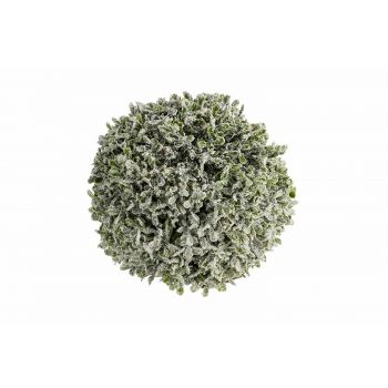Cosy @ Home Ball Pe Buxus Snow Green 18x18xh18cm Syn