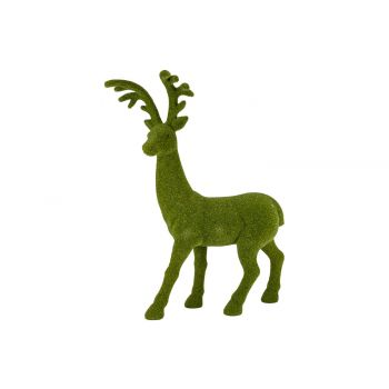 Cosy @ Home Deer Flocked Grass Green 58x25xh74cm Syn