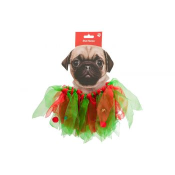 Cosy @ Home Collar Bells Dog Red Green 40x3xh16cm Te