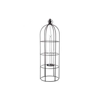 Cosy @ Home Lantern Birdcage Black 23,3x23xh71cm Met