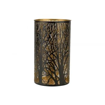 Cosy @ Home Wind Light Trees Gold Black 14x14xh26cm