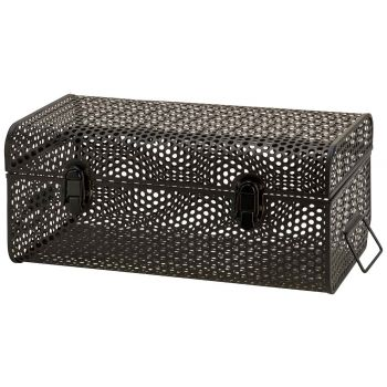 Cosy @ Home Suitcase Perforated Black 40x23,5xh17cm