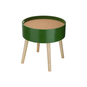 Cosy @ Home Sidetable Cork Green 45x45xh45cm Round W