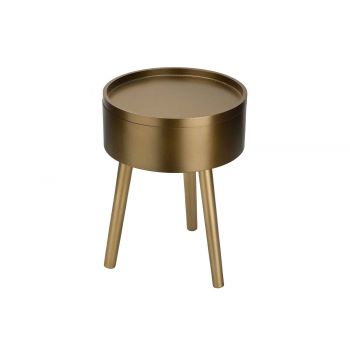 Cosy @ Home Sidetable Gold 30x30xh48cm Wood
