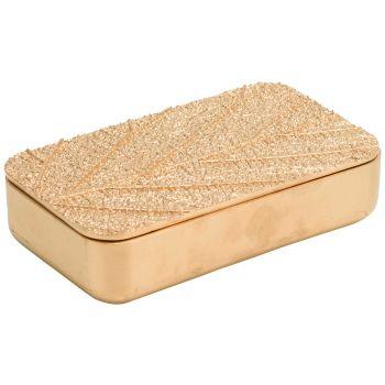 Cosy @ Home Box Leaf Gold 21,8x12,5xh5,5cm Resine