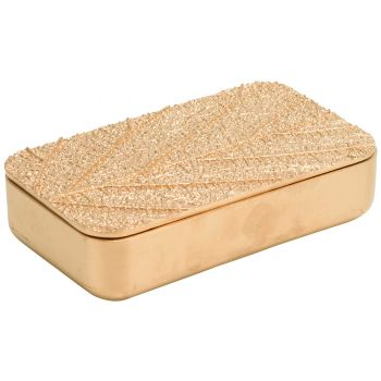 Cosy @ Home Box Leaf Gold 17,8x10,2xh4,3cm Resine