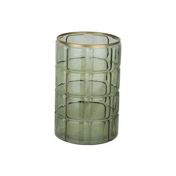 Cosy @ Home Wind Light Green 15x15xh23cm Round Glass