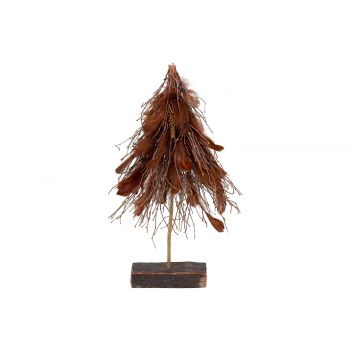 Cosy @ Home Branch Tree With Feathers Brown 36x15xh6
