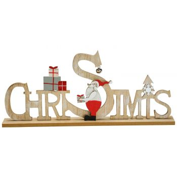 Cosy @ Home Letter Deco Christmas Nature 42x4,5xh18c
