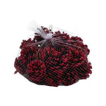 Cosy @ Home Pine Cones 300gr Red 5x5xh5cm Wood