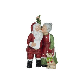 Cosy @ Home Santa Miss Claus Red 15x11xh25,5cm Resin
