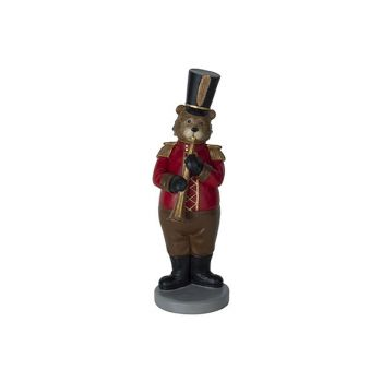 Cosy @ Home Bear Clarinet Red 12x10,5xh31,5cm Resine