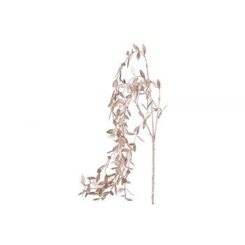 Cosy @ Home Deco Branch Metallic Leaves Pink 5x5xh85