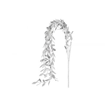 Cosy @ Home Deco Branch Metallic Leaves Silver 5x5xh