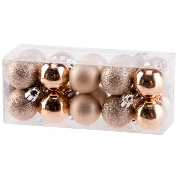 Cosy @ Home Xmas Ball Set20 Mix Pink D3cm Synthetic